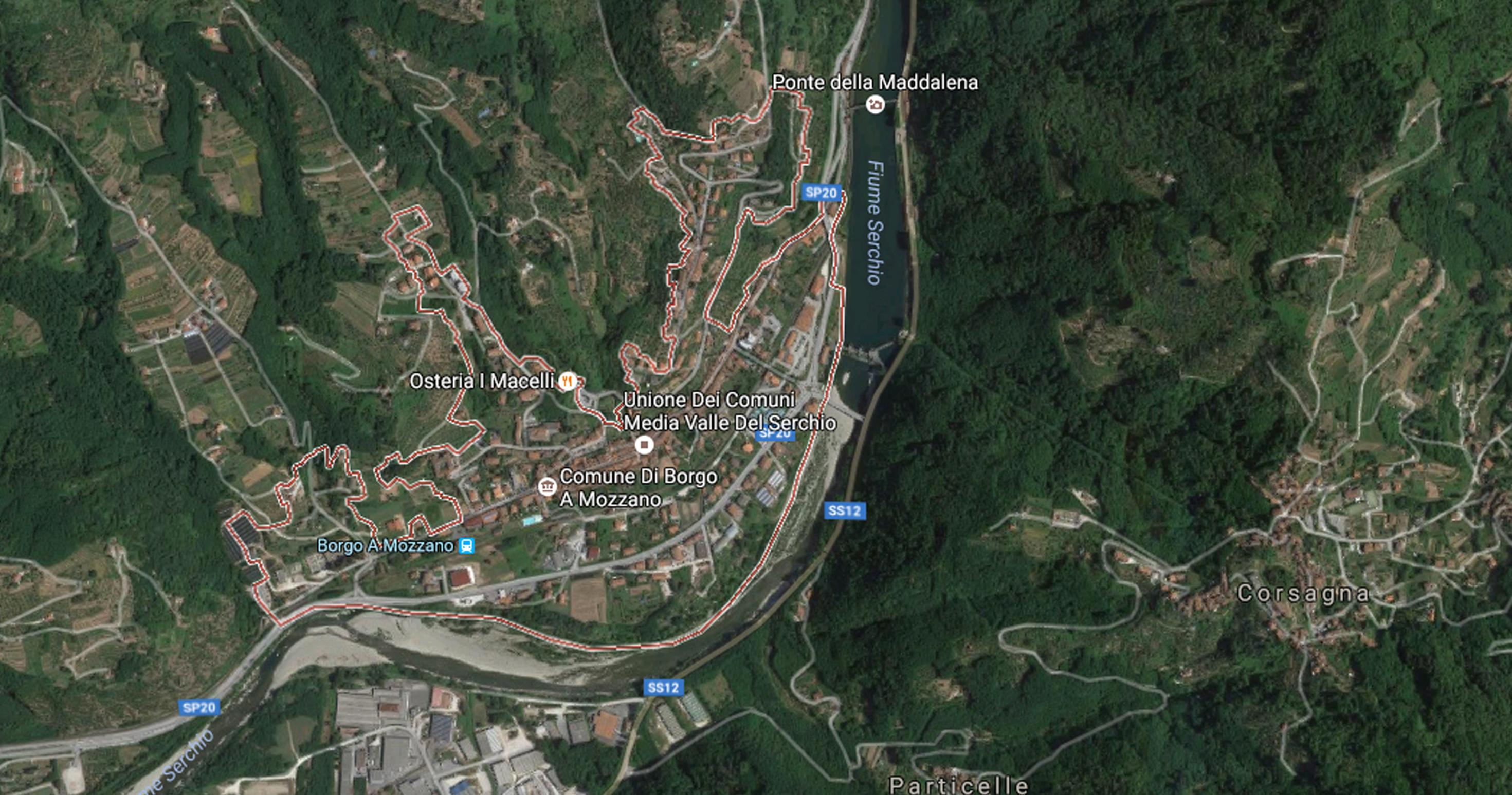 Mappa Borgo a Mozzano