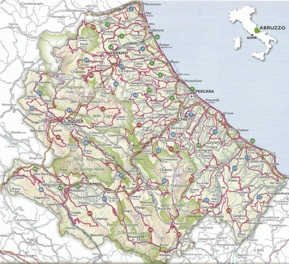 Cartina Turistica Abruzzo.Idee Di Viaggio Destinazione Abruzzo Passando Da Tortoreto