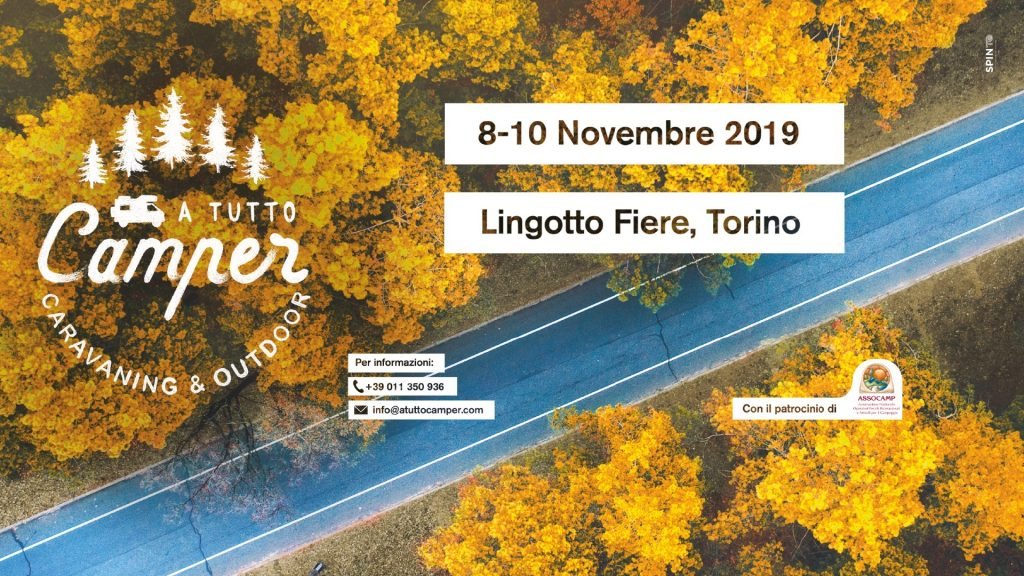 Manifesto Fiera del Camper Torino 2019: A Tutto Camper